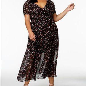 Dresses & Skirts - Betsey Johnson Cherry Print Deep V Maxi Dress